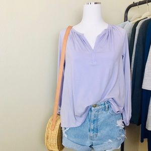 Lou & Grey Lavender Blouse